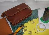 Compleet pakket om deze leren tas te maken_