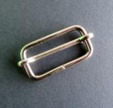 Doorschuifgesp nikkel buitenmaat 33 mm doorgang 27 mm_
