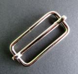 Doorschuifgesp nikkel buitenmaat 60 mm doorgang 50 mm_