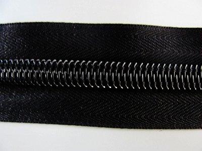 Rits 10 mm zwart per meter