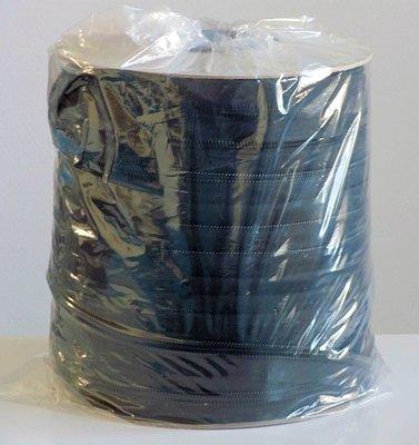 1 rol 100 meter zwart wit of grijze rits  10 mm