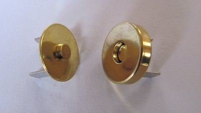 Magneetsluiting extra zwaar 18 mm goud kleur