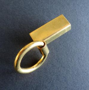 Bevestiging , soufflehaak 5,5 cm lang MESSING
