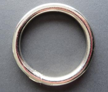 Ring 48 mm nikkel binnenmaat 40 mm geschikt voor 4 cm breed band