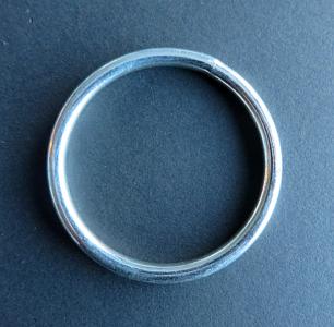 Ring 60 mm nikkel binnenmaat 50 mm GELAST