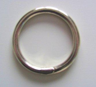 Ring gelast EXTRA ZWAAR 70 mm nikkel binnenmaat  55 mm