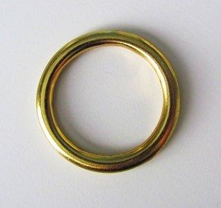 Ring messing 43 mm binnenmaat 33 mm gelast