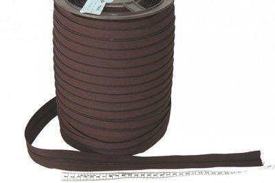 Rits 6 mm donkerbruin  per meter