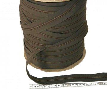 Rits 6 mm taupe  per meter