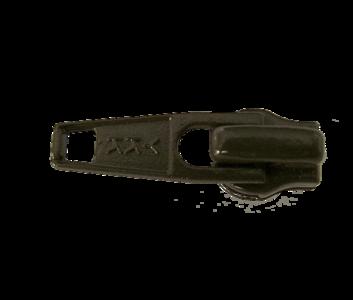 Ritsschuiver voor de  6 mm rits donkerbruin