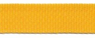 Tassenband PP zwaar band 25 mm okergeel