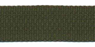 Tassenband PP zwaar band 25 mm legergroen