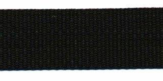 Tassenband PP zwaar band 25 mm zwart