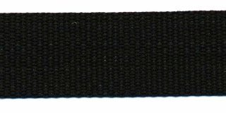 Tassenband PP zwaar band 30 mm zwart