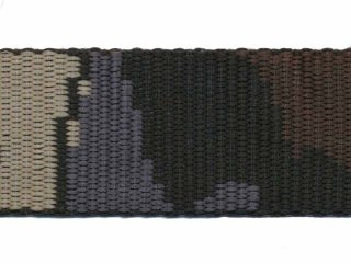 Tassenband PP zwaar band 30 mm camouflage