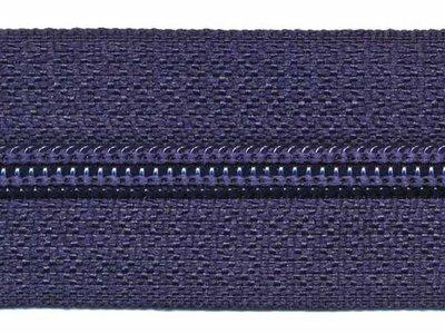 Rits 6 mm donkerblauw per meter