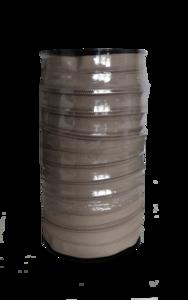 Rits 6 mm beige per rol van 50 meter