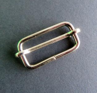 Doorschuifgesp nikkel buitenmaat 40 mm doorgang 32 mm