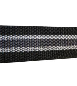 Tassenband PP zwaar band 2,5 mm zwart wit