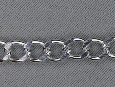 Tasketting nikkel metaal 7 mm breed per meter
