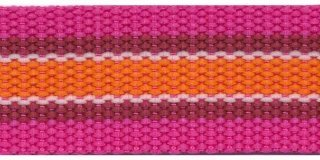 Tassenband PP zwaar band 30 mm rozestreep
