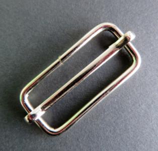 Doorschuifgesp nikkel buitenmaat 60 mm doorgang 50 mm