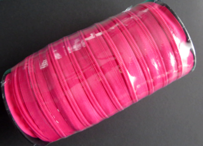 Rits 6 mm fuchsia per rol van 50 meter