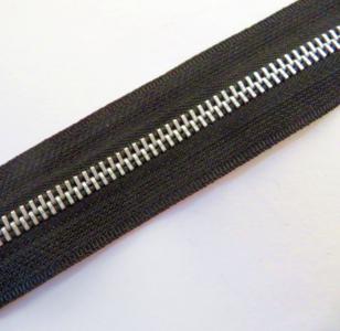 NIEUW zwart METALEN  rits 6 mm per meter
