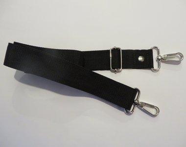 Verstelbare schouderband van stevig tassenband 3 cm breed en van 85 cm tot 150 cm in vele kleuren