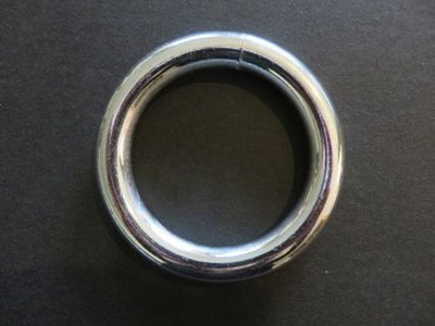 Ring 84 mm binnenmaat 60 mm zware grote ring draaddikte 12 mm