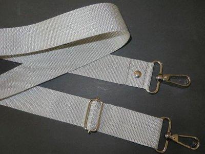 Aanbieding verstelbare schouderband van tassenband 4 cm van 85 cm max 150 cm zilvergrijs