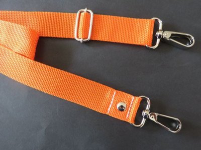 Aanbieding verstelbare schouderband 3 cm van 85 cm max 150 cm oranje