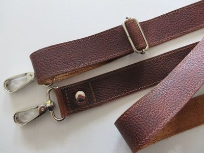 Aanbieding verstelbare schouderband leder bruin in 3 breedtes