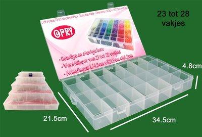 Hobby Box XL 28 vakjes 34,5 x 21,5 x 4,8 cm